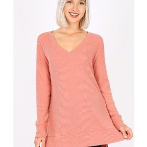 Zenana Boutique Soft Thermal Snap Side Top
